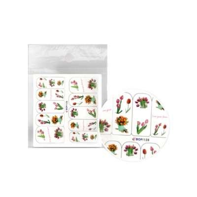 Sticker Pegatina De Agua Para Uñas Flores